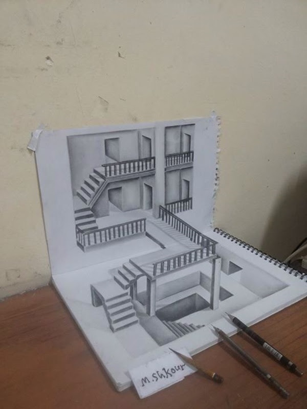 3d Art Drawing On Paper George S Blog
