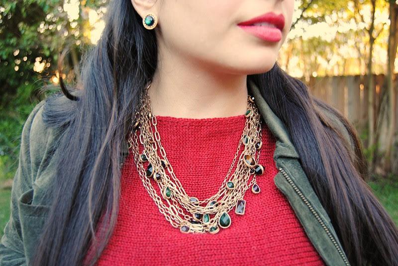 Chunky jewel necklace