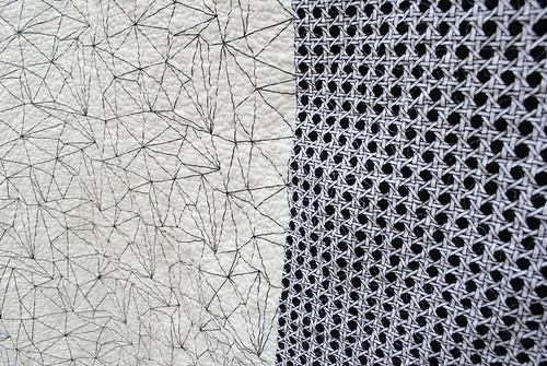 Kitchen Windows quilt #1 Backing detail
