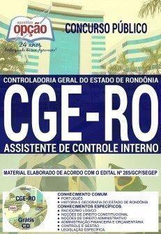 Apostila Concurso CGE RO 2018 | ASSISTENTE DE CONTROLE INTERNO