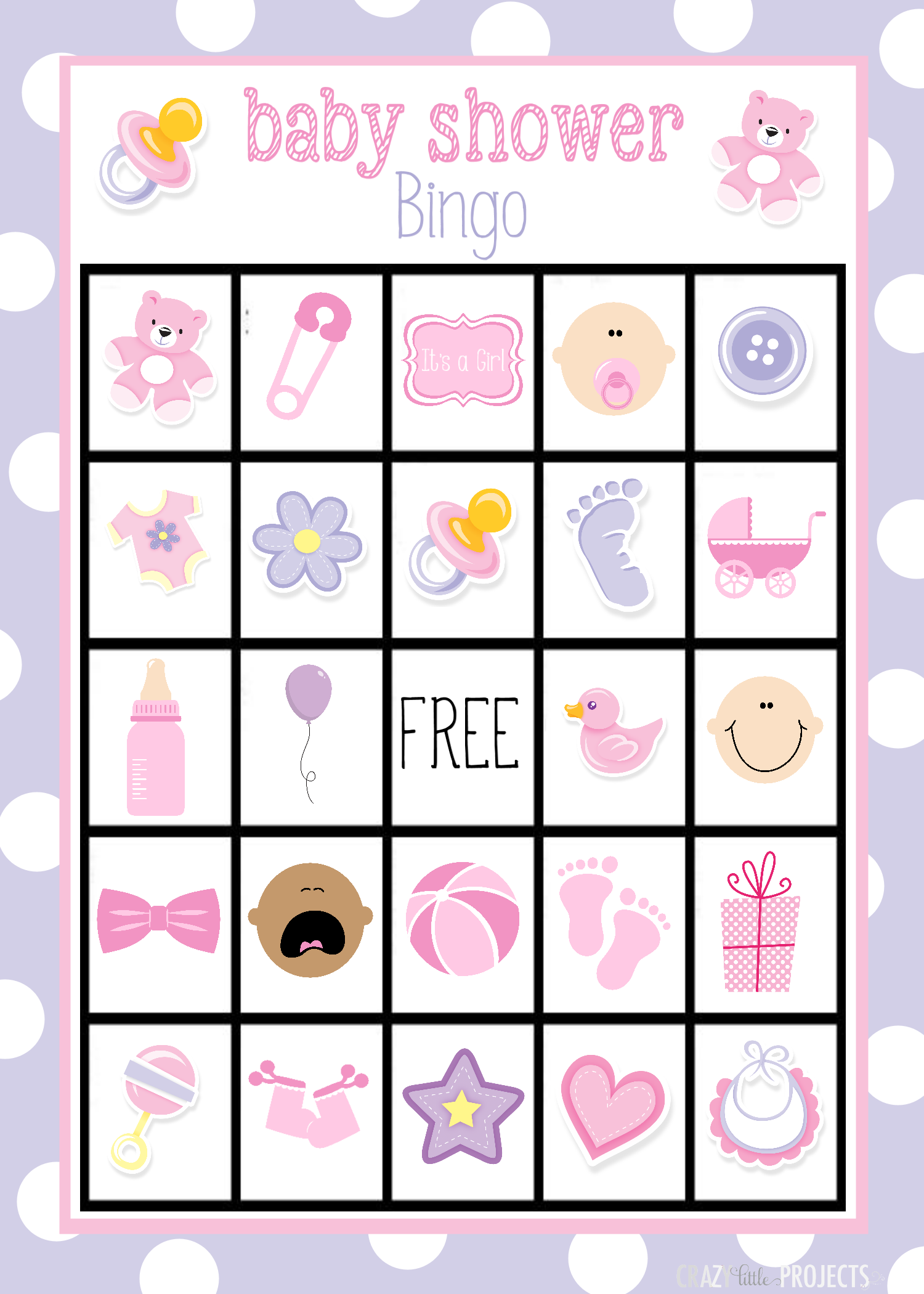 Baby Shower Bingo Cards | Baby gifts, Girls and So cute