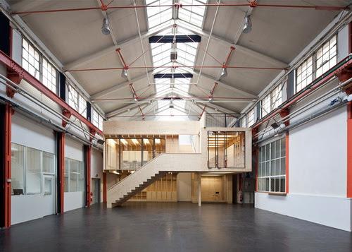 Desain Bangunan Kayu Dengan Konsep Rumah Dalam Rumah Didalam Pabrik Di Basel Pt Architectaria Media Cipta