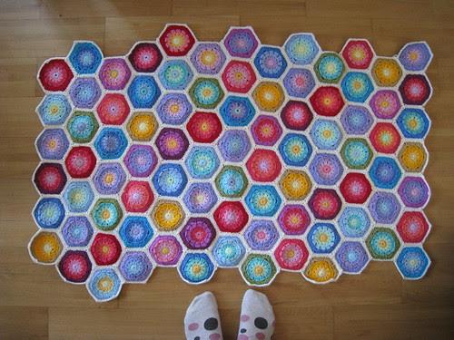 Hexagon blanket progress