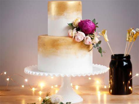 Gorgeous Gold Wedding Cakes