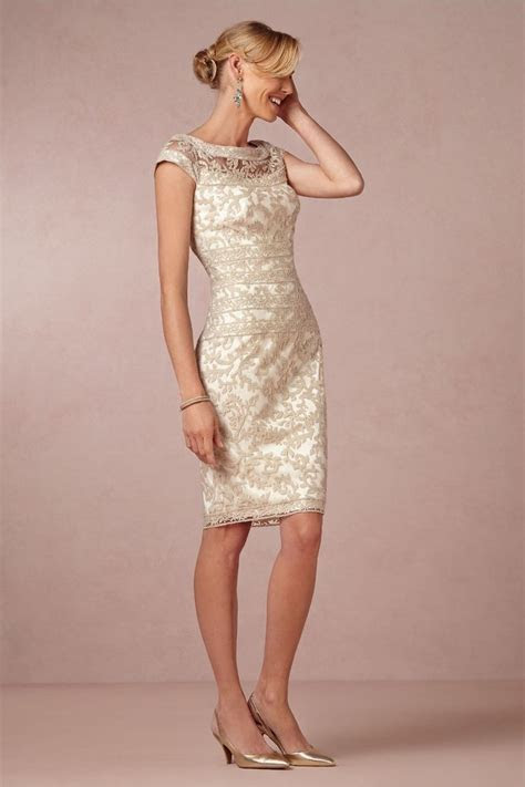 2015 Wonderful Lace Gold Sexy Mother of the Bride Dresses