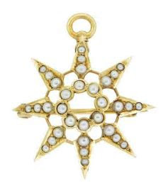 Antique Victorian Seed Pearl Starburst Pendant Brooch 14