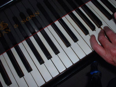 Hand and keyboard