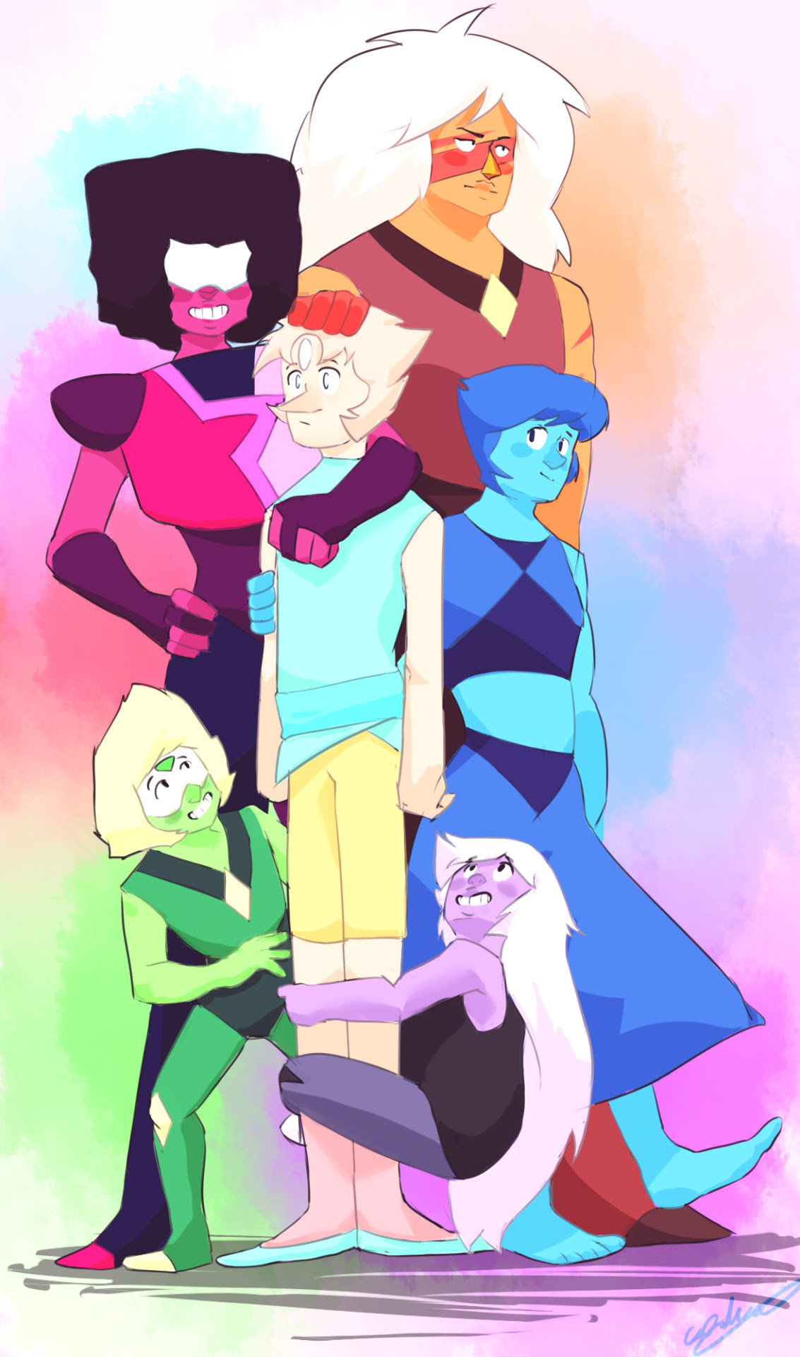 That moment when you accidentally ship everyone with one person. I don't regret it. Also sorry couldn't fit Bismuth.