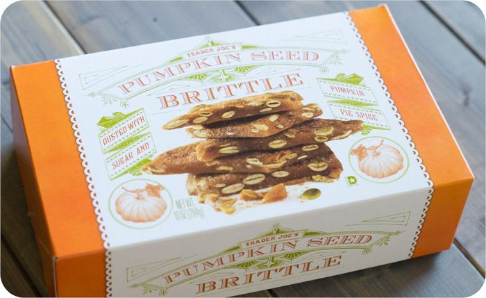 trader joe's pumpkin seed brittle review: part of a weekly review series of tj's desserts and treats