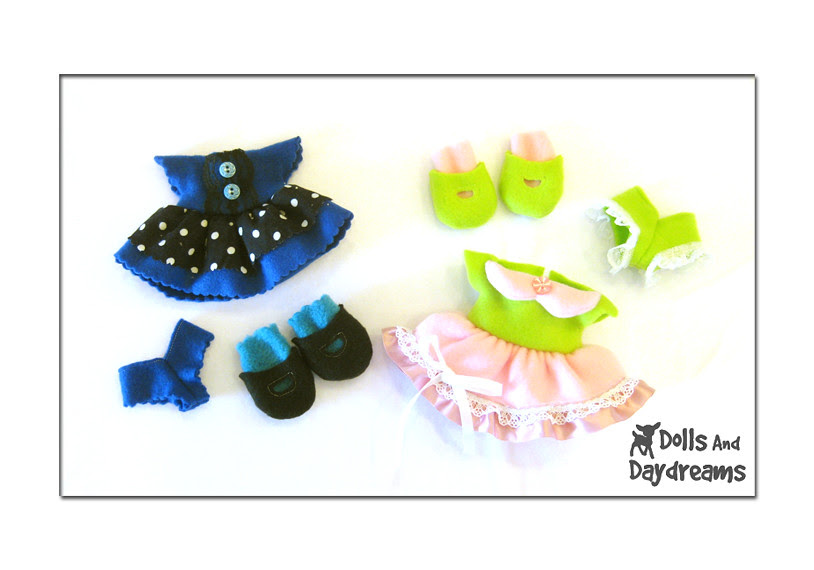 fleece doll clothes sewing pattern shoes dress panties copy