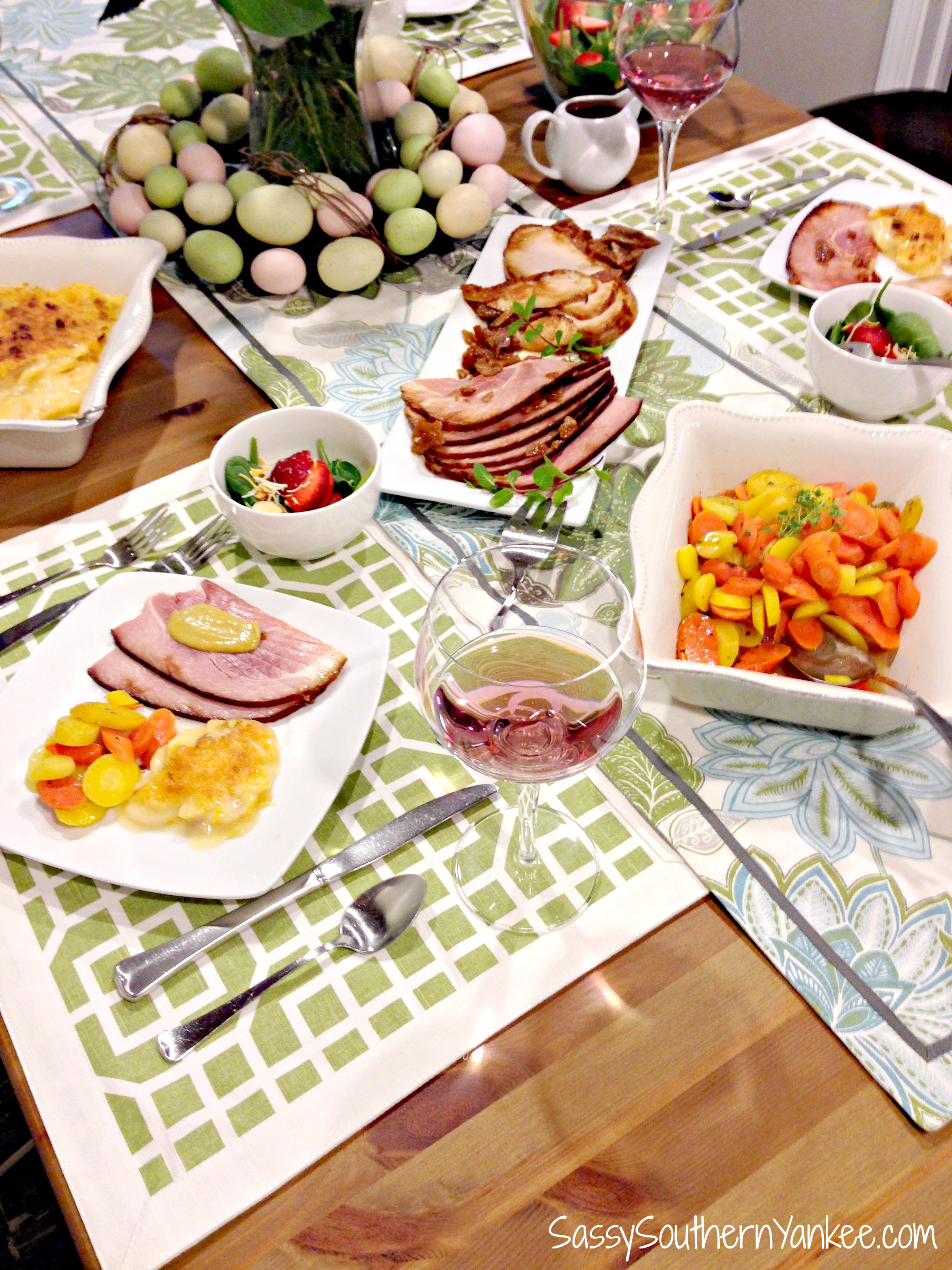Delicious and Easy Easter Dinner with HoneyBaked Ham # ...