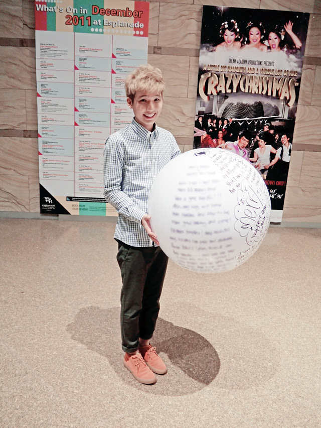 typicalben with ball filled with wishes