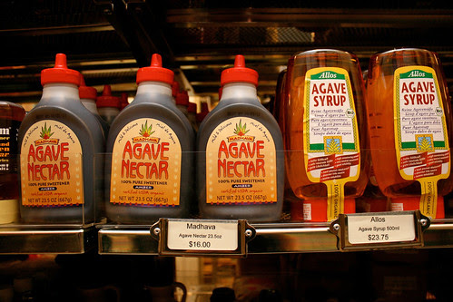 Agave nectar as alternative sweetener
