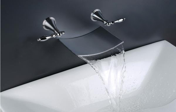 Wall-Mount Waterfall Bathtub Faucet (R-2014) - China faucet,