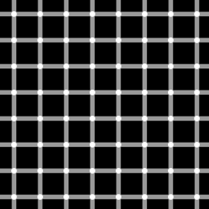 An example of the scintillating grid illusion....