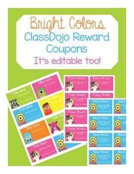 This products contains 12, student-centered ClassDojo reward ...