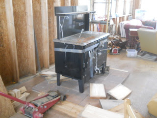 Wood Burning Cook Stove in Place
