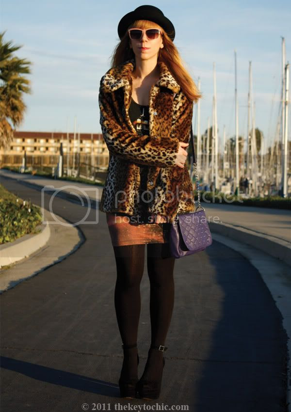 Motel city scene dress, Forever 21 leopard print jacket, Steve Madden Grettta heels, Los Angeles fashion blog, southern California fashion blogger