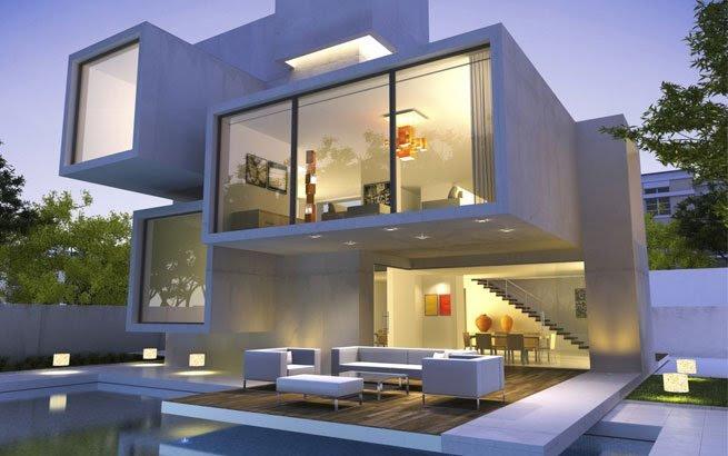 Moderne Architektur: Formen und Materialien