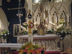 Paschal candle in the Sanctuary