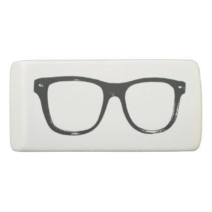Nerdy Glasses Funny Eraser