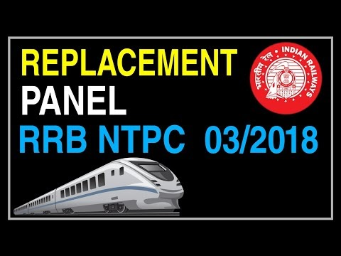 RRB NTPC - Replacement Panel against CEN No.03/2018 |  refund of exam fe...