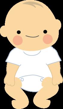 赤ちゃんのイラストbaby無料イラストフリー素材 おすわり