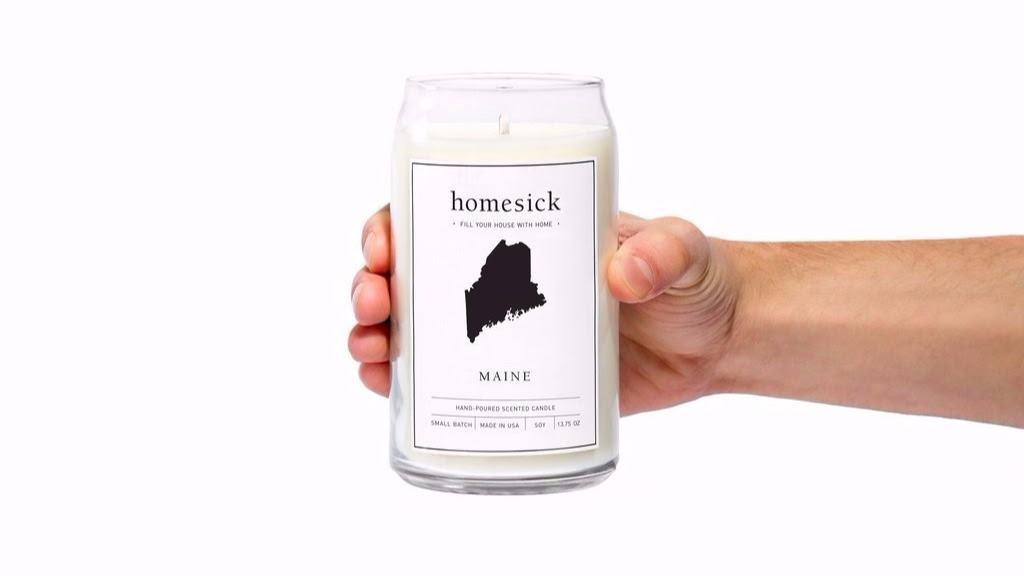 You can buy a 'homesick candle' that smells like Maine ...