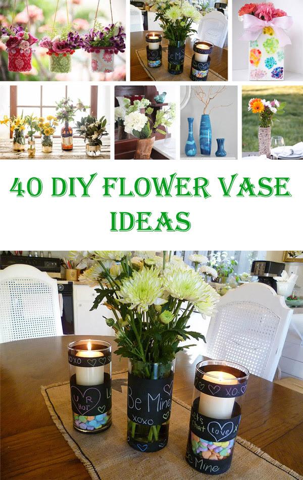 40 Awesome Diy Flower Vase Ideas Crafts Diy