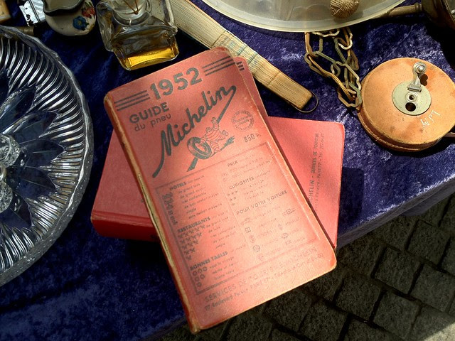 Vintage Michelin Guides at the Antique Market in Bordeaux