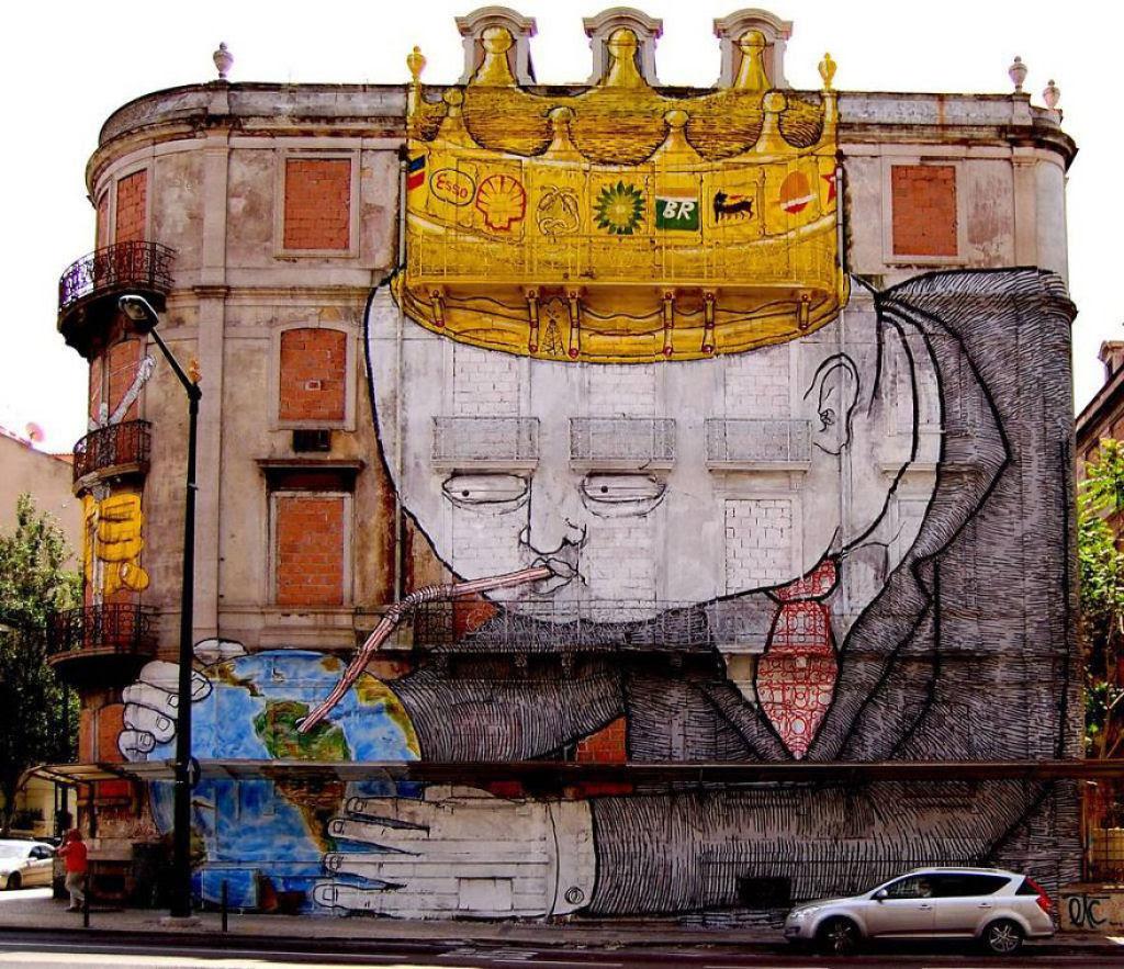 24 eloquentes obras de arte urbana mostrando a desagradável verdade 13