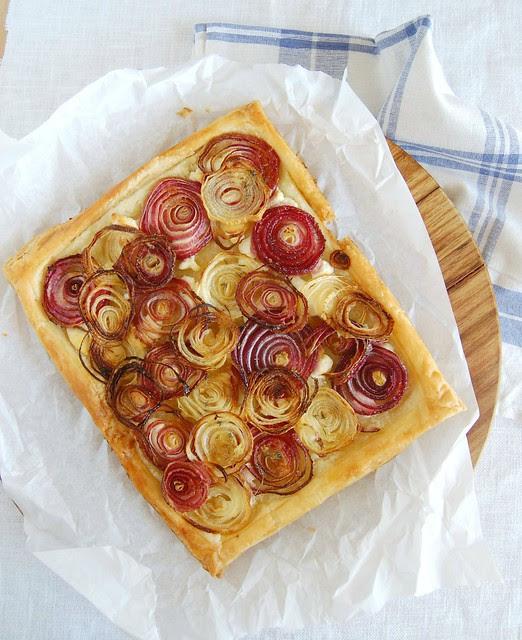 Roast onion tart / Torta de cebolas assadas