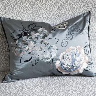 mararhi granite throw pillow in silk satin