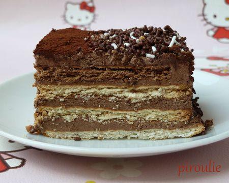Gâteau aux petits-beurre, au chocolat et au café | À Découvrir