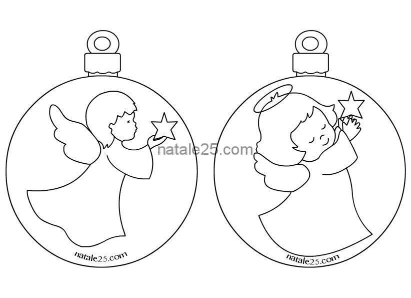 Palline Natale Con Angeli Da Colorare Natale 25