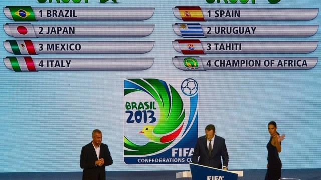 Sorteio dos grupos da Copa das Confederações