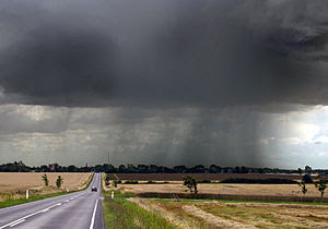 Late-summer rainstorm in Denmark