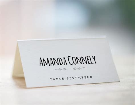 Printable Table Place Cards Template   Brokeasshome.com