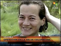 Clara Rojas on Venezuelan television, Telesur