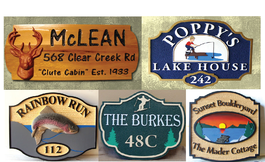 COTTAGE CABIN rustic CUSTOM  cottage SIGNS AND sign