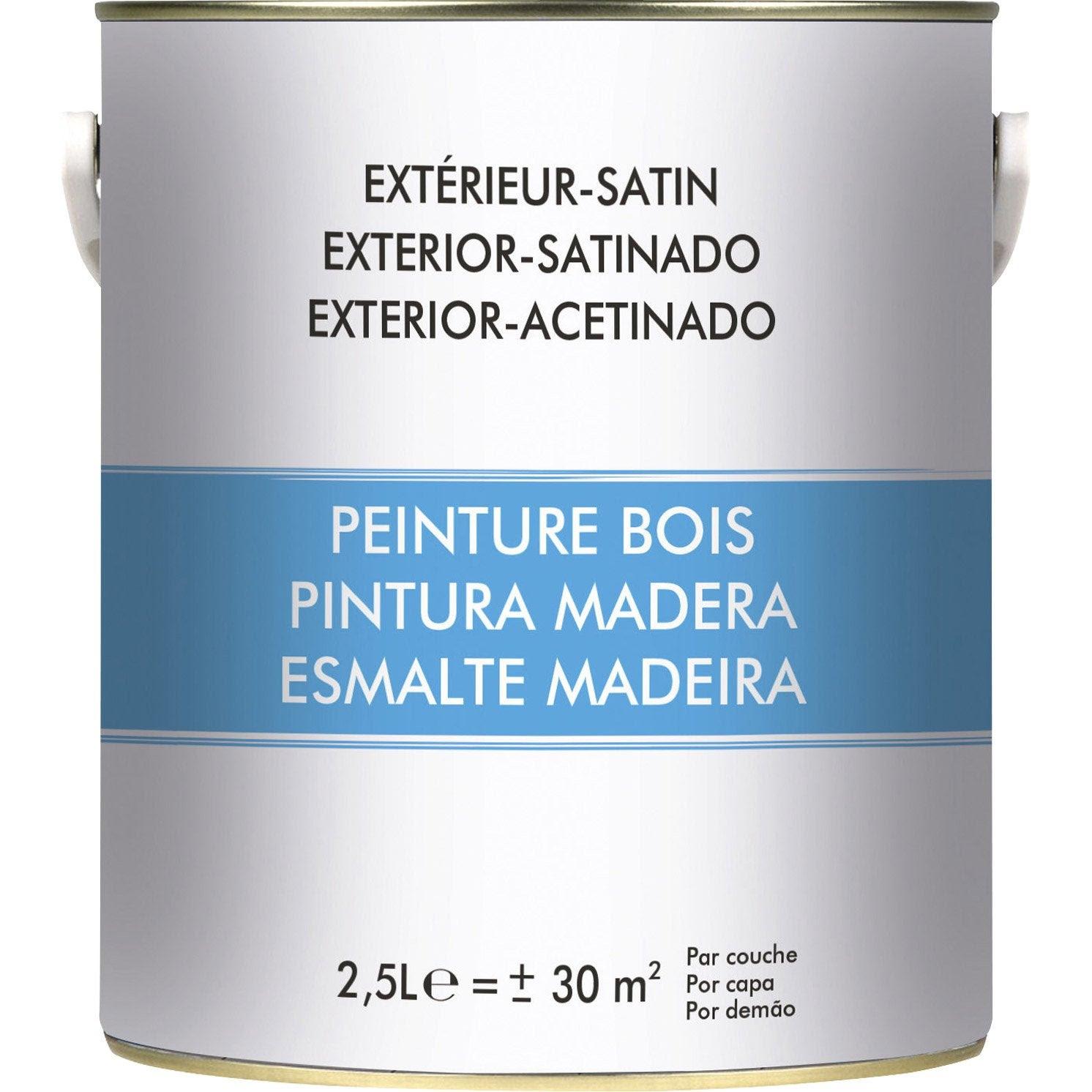 Peinture Bois Extérieur Blanc 25 L Leroy Merlin