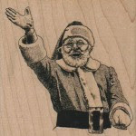 Waiving Santa Stamp #4820 from Viva Las Vegastamps!