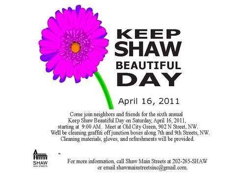 Keep Shaw Beautiful Day 2011 Flyer