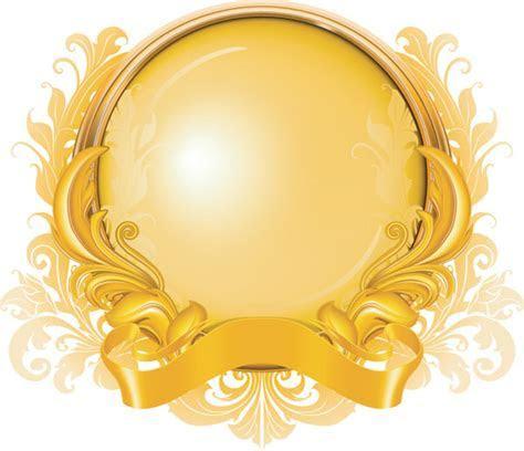 13 Gold Graphic Design Vectors Images   Gold Ribbon Banner