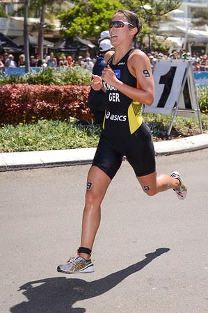 Anja Knapp - Subaru Mooloolaba Women's ITU Triathlon World Cup - Mooloolaba Multi Sport Festival Super Saturday, 15 March 2014 - Mooloolaba, Sunshine Coast, Queensland, Australia. Photos by Des Thureson - http://disci.smugmug.com - Camera 1.