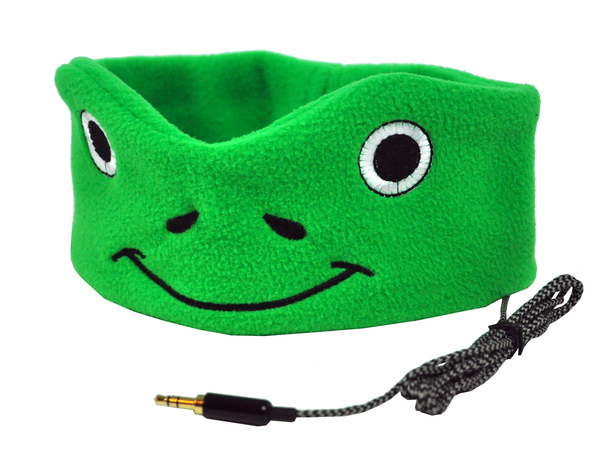 Kids Soft Fleece Headphones - Great for School, Home and Travel - FROGGY