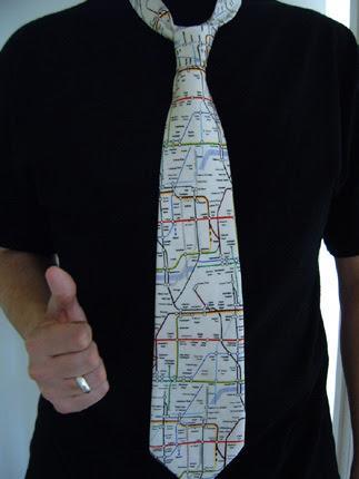 London Underground Map Tie