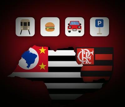 CARROSSEL -  Flamengo serviço cidade são Paulo (Foto: Editoria de Arte)