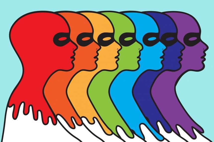 Παίρνει εύκολα τους τρόπους των άλλων, όπως ορισμένα όντα του βυθού παίρνουν το χρώμα του περιβάλλοντός τους για να διασωθούν.