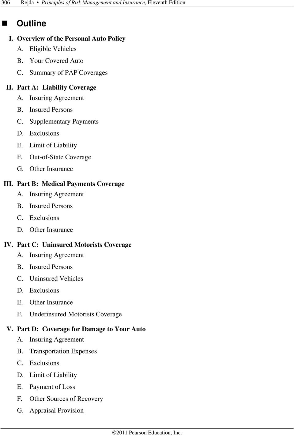 Chapter 10 Auto Insurance in the United States  PDF